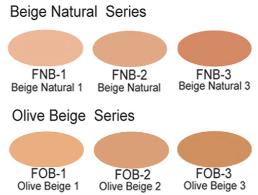 Fluid Foundation Farbtabelle